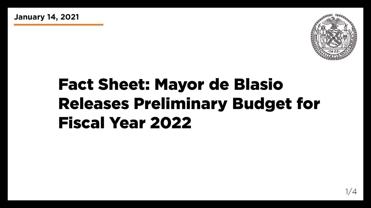 After one of the most painful years in our city's history, our preliminary budget responds to the COVID-19 pandemic and puts our city on a path to recovery.  Read more: