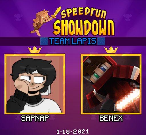 nerdi_tv - ANNOUNCING the final duo for Minecraft Speedrun Showdown: Team Lapis featuring @sapnap & @RealBenex !