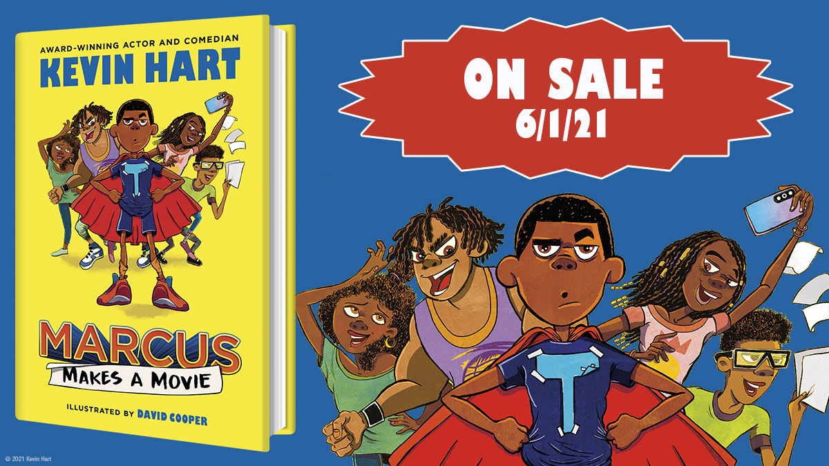 .@KevinHart4real's first book for middle grade kids (and my tenth) comes out June 1st. It's funny! And inspiring! And occasionally even heartwarming. Preorder links here:  @randomhousekids @DavidCooperArt