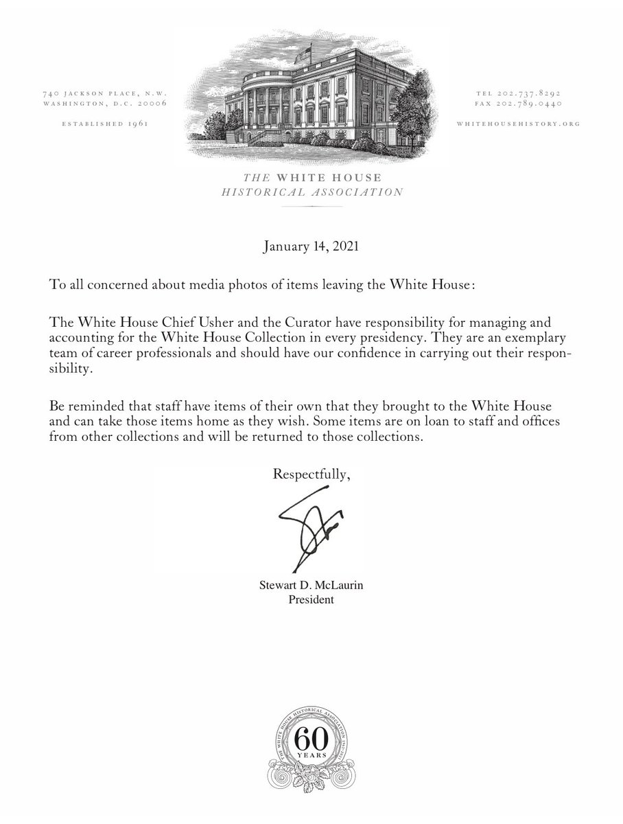 @BeschlossDC, @Acosta, and others.... I have reconfirmed the following today with the White House Chief Usher.