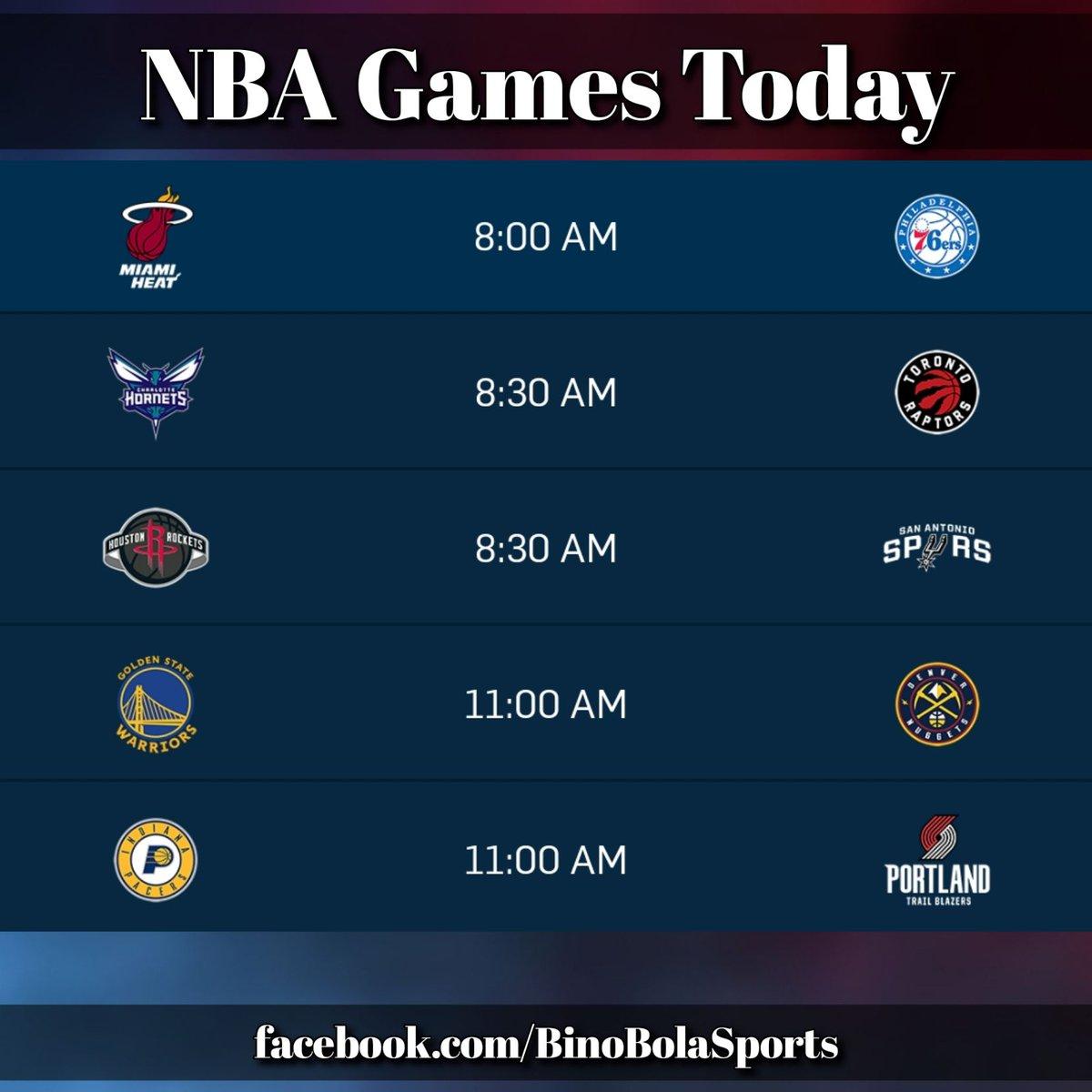 NBA games today! #RegularSeason #Day23 #BinoBolaSports #GamesSchedules