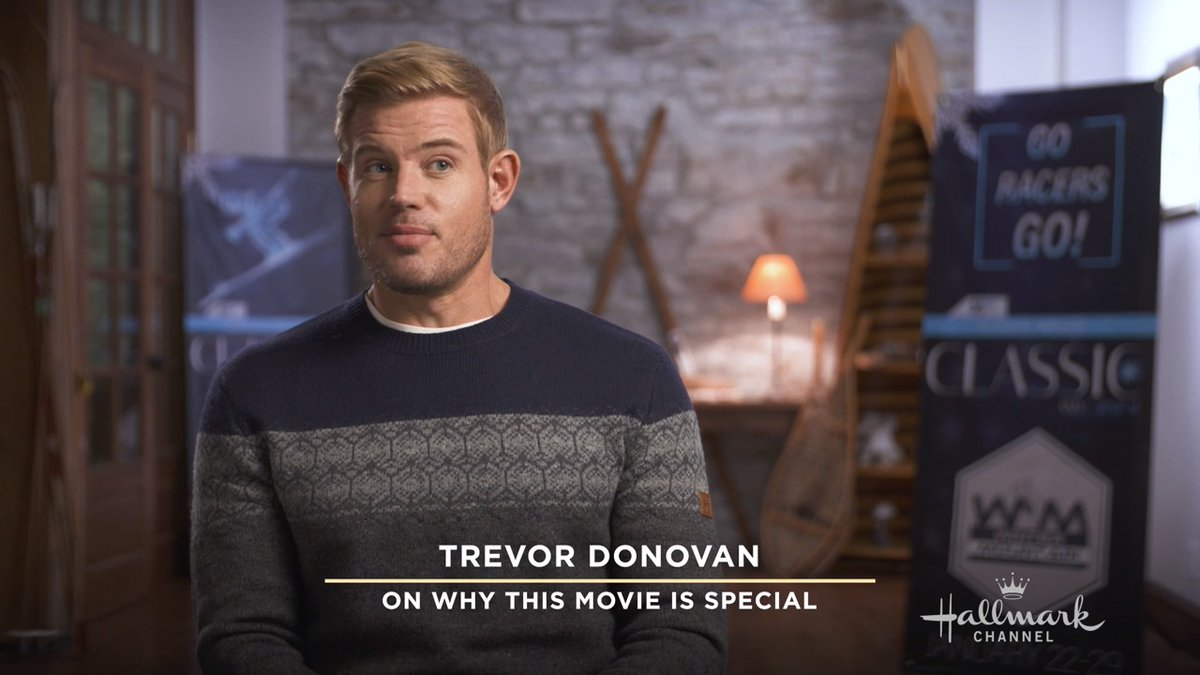 Fun fact: @TrevDon is actually a lifelong skier! See him put his skills to the test this Saturday at 9pm/8c in the adventurous #TwoForTheWin. Part of New Year New Movies! 🎿
