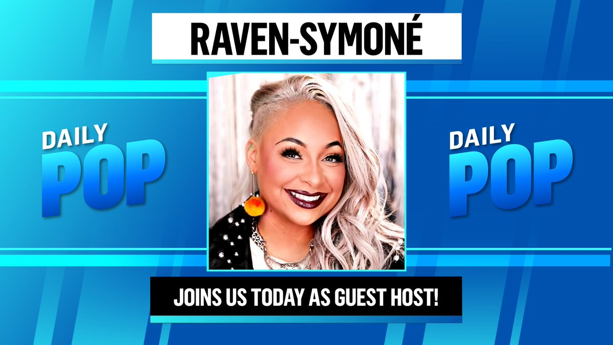I'm getting a vision that Raven-Symoné is going to be a guest host on #DailyPop today! 🔮