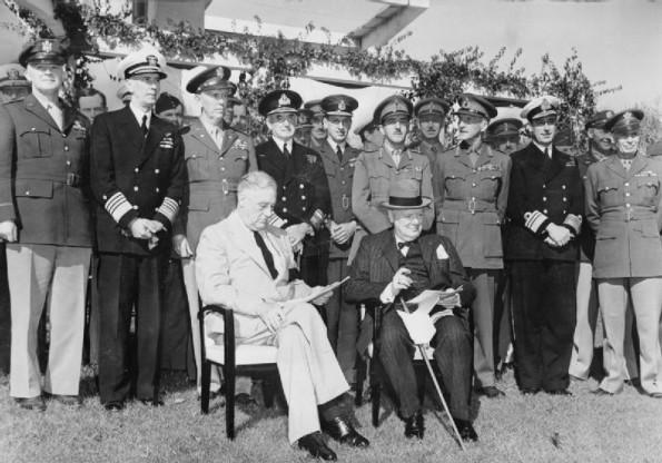 Under intense secrecy, British Prime Minister Winston Churchill & US President Roosevelt meet in Casablanca, freshly captured by Allied troops, for a major war conference with Free French leaders. https://t.co/ay1bywp3ZG