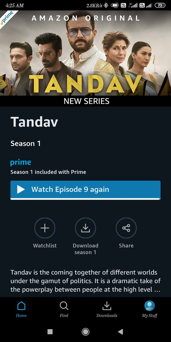 @WhoSunilGrover you nailed it with the character that I forgot that you are the same who used to play Mr. Gulati in #thekapilsharmashow on Sony TV. Damn!!! You are on 🔥 Sir. Another masterpiece from @PrimeVideoIN . #TandavOnPrime #sunilgroverop🔥.