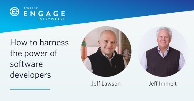 Join us for #TwilioEngage Everywhere and learn how you can unleash the tremendous untapped creativity and brainpower inside your software teams. Be one of the first 1,000 to register and receive a copy of #AskYourDeveloper by Twilio CEO Jeff Lawson.