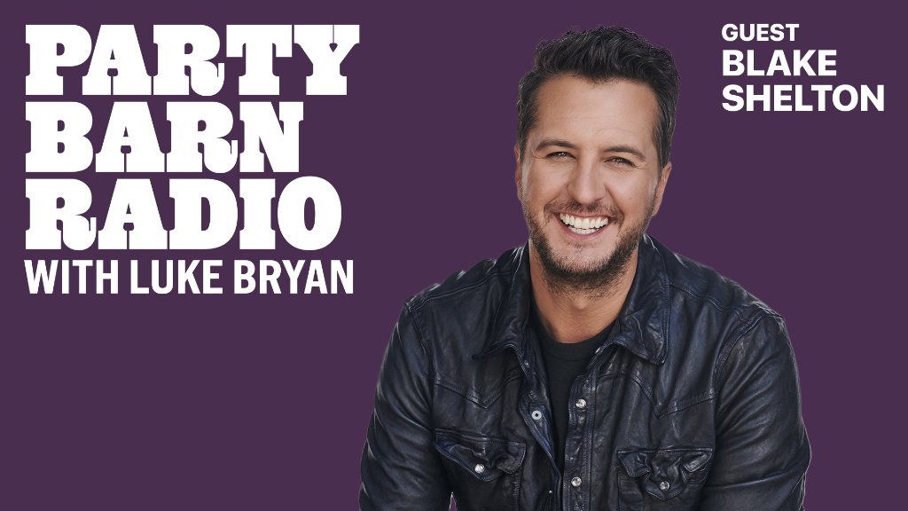Don't miss this. 🤠  @blakeshelton joins @LukeBryanOnline on a new episode of #PartyBarnRadio.  Listen now for free on Apple Music Country or anytime with a subscription: