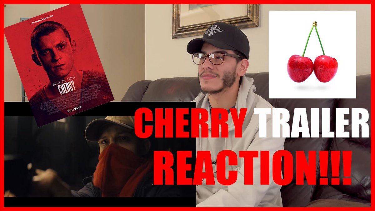 Cherry trailer reaction CHECK IT OUT 🔥     #cherry #TomHolland #russobrothers #appletv
