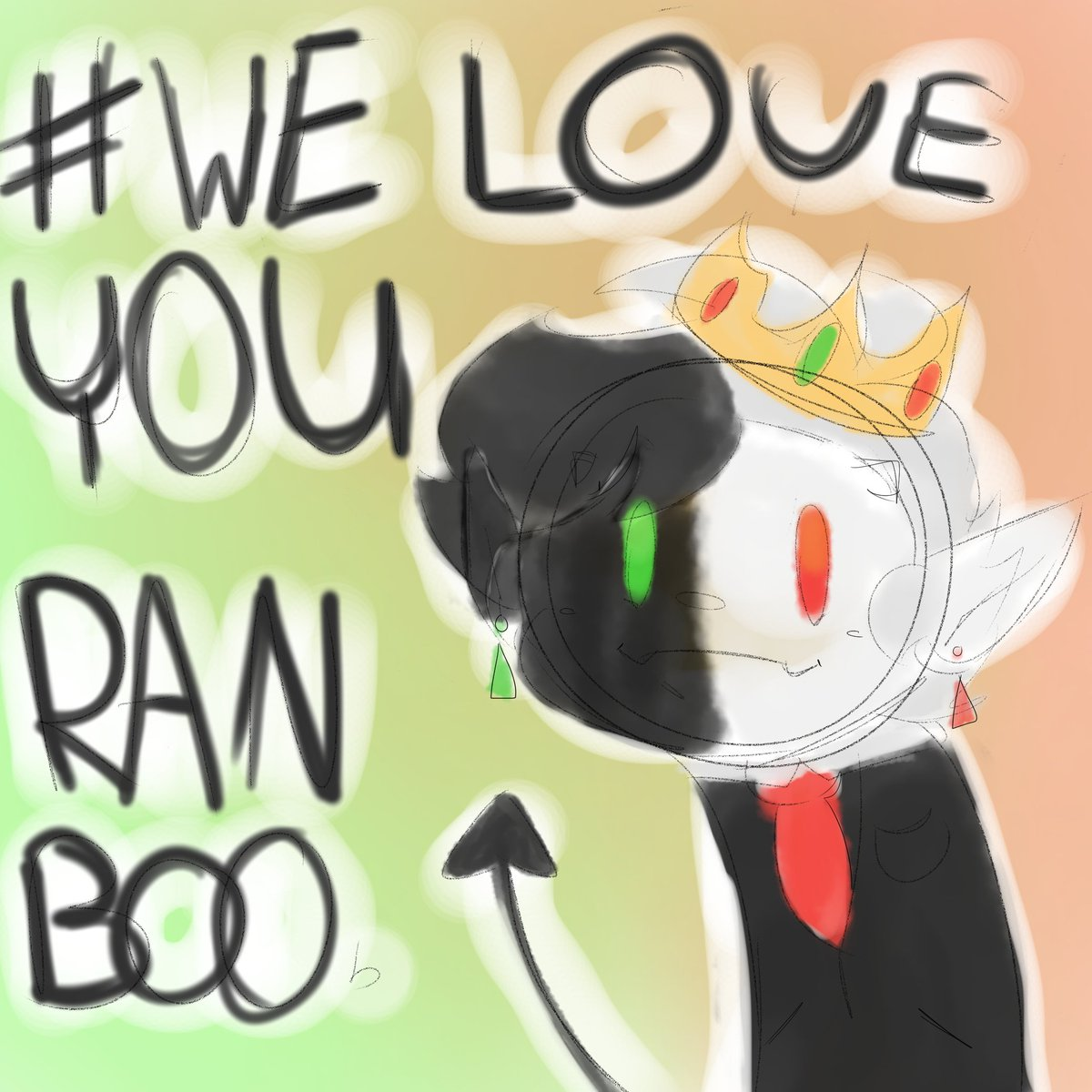 #weloveyouranboo !! Just a little mans for today i didnt have much time to draw a