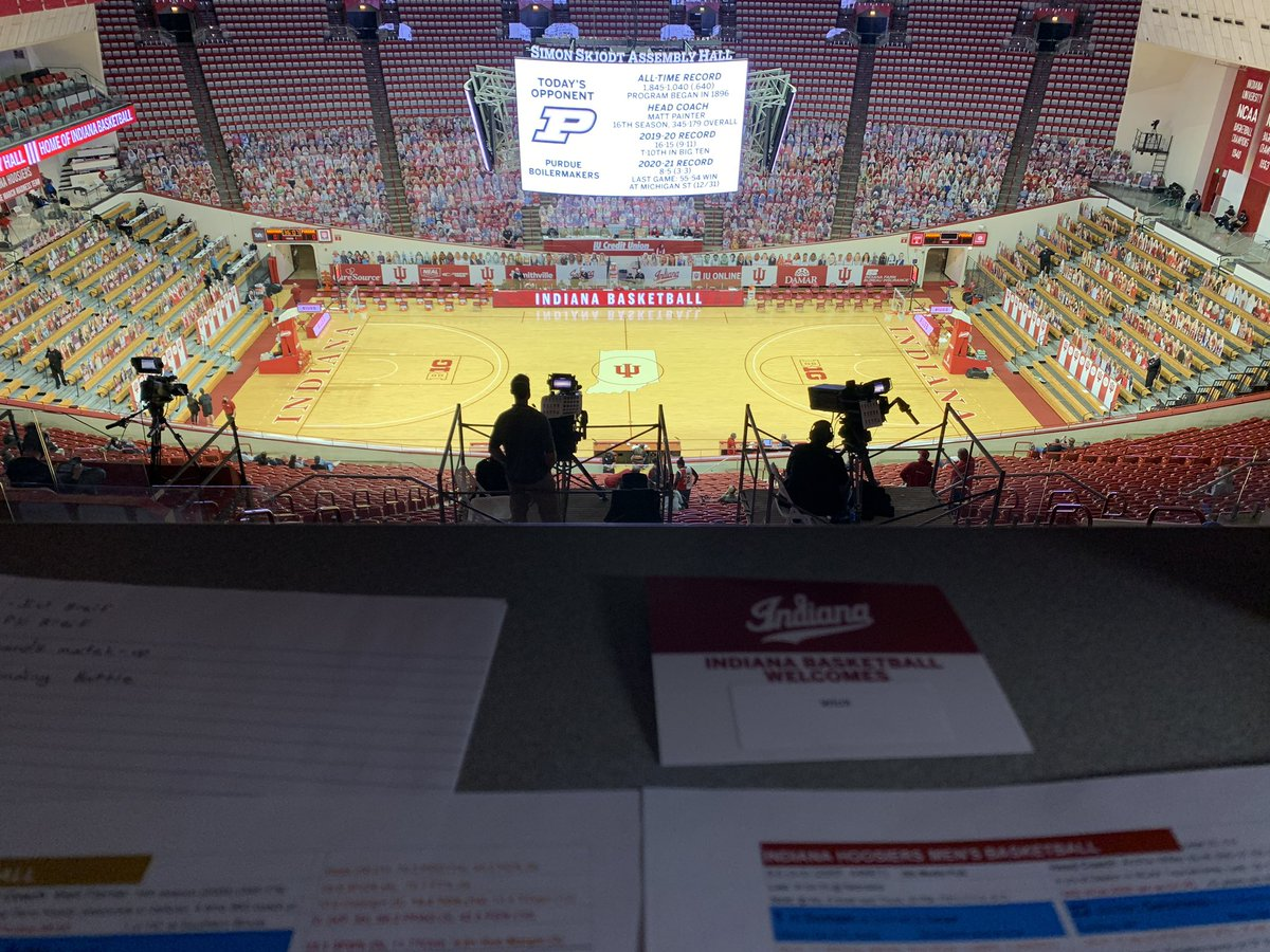 Indiana. Purdue. Basketball from Assembly Hall. Enough said.   Join @AustinRender and myself for the @WIUXSPORTS broadcast at 7PM ET. Listen here: