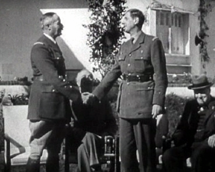 Allied leaders meet in newly liberated French Morocco, with Free French leaders Generals De Gaulle & Giraud, to thrash out their strategy for next phase of war: how to assure total annihilation of the Axis. https://t.co/4QaGjHz5iJ