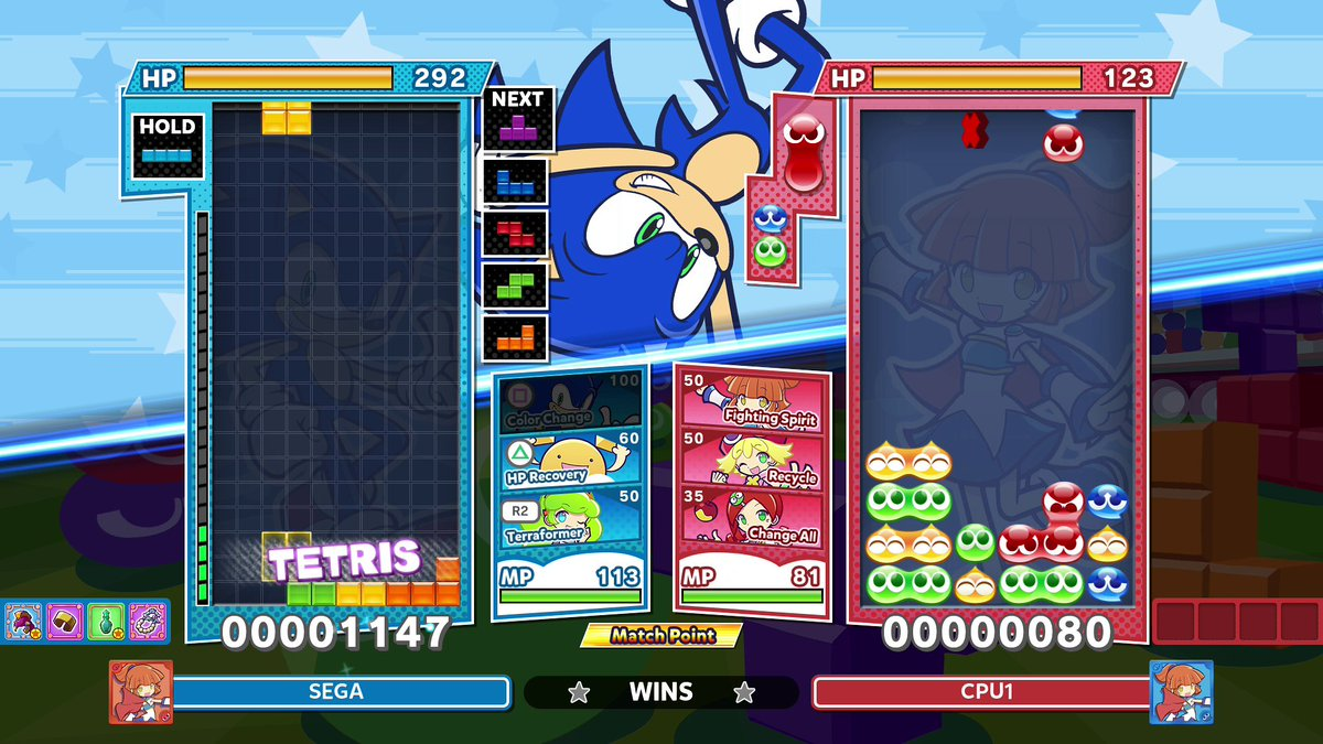 Sonic's Mean Bean Machine experience pays off. The iconic hedgehog is playable in Puyo Puyo Tetris 2 with today's free update: