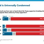 Image for the Tweet beginning: Americans universally condemn Trump supporters'