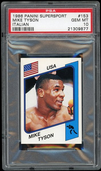 Iron Mike Tyson #miketyson #psa #cards #thehobby #collect #boxing #panini #80s #usa #fun #tyson #tysonvsjones