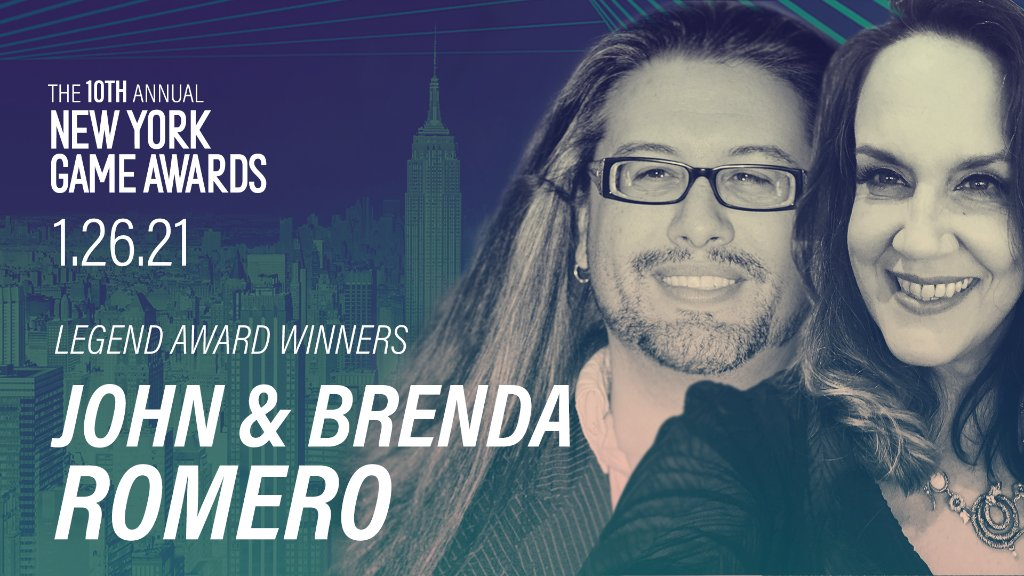 Watch the @NYGameAwards Legend Award Tribute to the Romero Games duo with @Reggie. Join us to celebrate this legendary moment at 5 PM PST/ 8 PM EST.  →