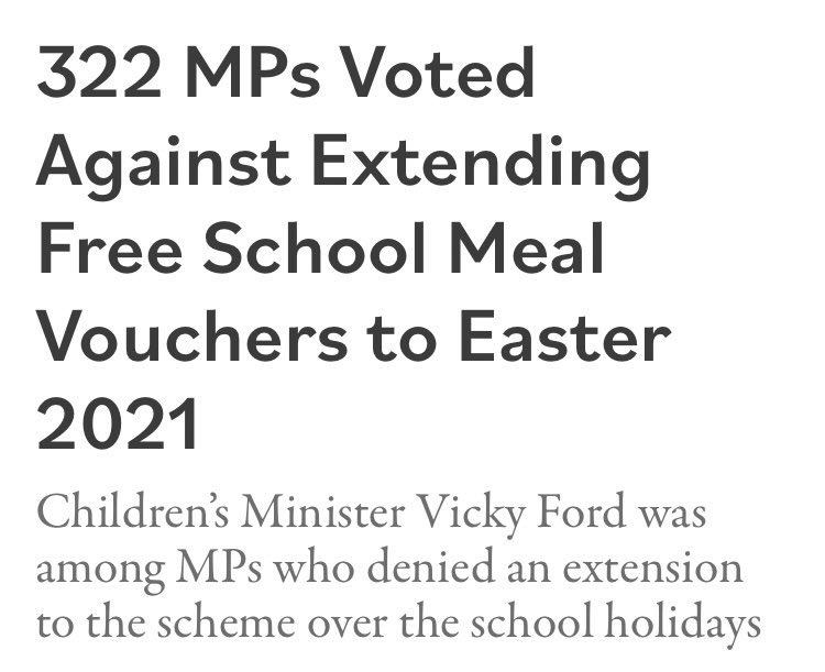 Of all the Members of Parliament, you'd have thought that Vicky Ford, the actually Children's Minister, would have voted in favour of feeding hungry children but...  #BBCQT