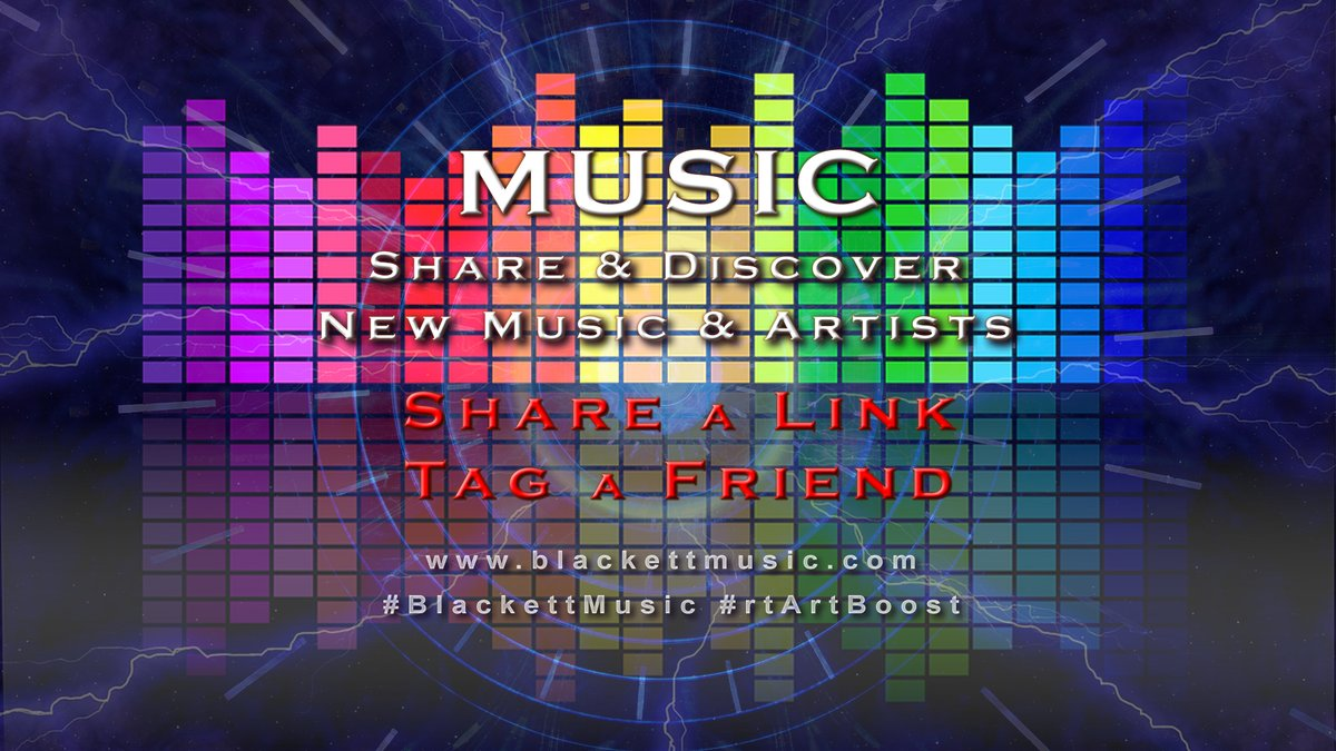 🎵MUSIC🎵  ✅Link & Describe your #Music for us! ✅#Listen & #Follow on each platform! ✅Tag 3+ #Artists you #Support!  @MusicMarketingA @byronsmithmusic @music_legion @3mindB @CarbonFootprin9 @rtArtBoost