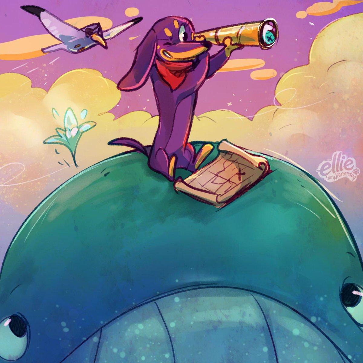 Ahhh, there it is!  The weekend is just over the horizon ... just keep swimming! 🐾💜🐾 #thursdaymood #elliethewienerdog #purplewienerdog