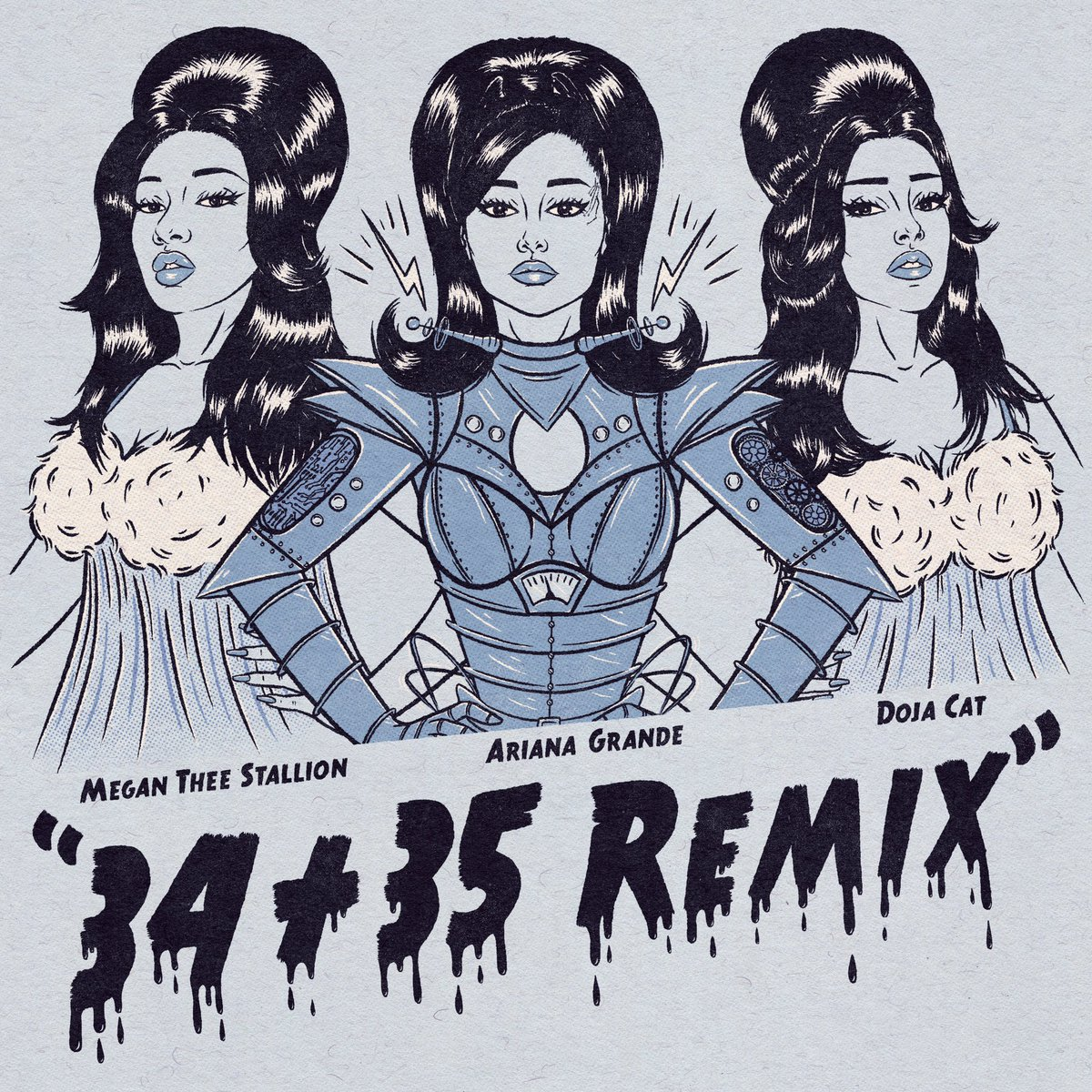 .@ArianaGrande + @theestallion + @DojaCat = 👑 x 3. Listen to #3435REMIX now →