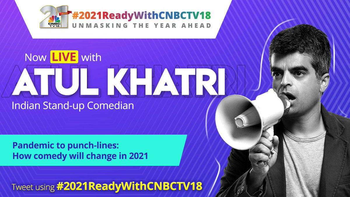 We kid you not when we tell you that our next guest is the much loved and adored stand-up artist - @one_by_two AKA Mr. Atul Khatri. Welcome to #2021ReadyWithCNBCTV18, Atul. We are glad to have you! Should we get cracking?