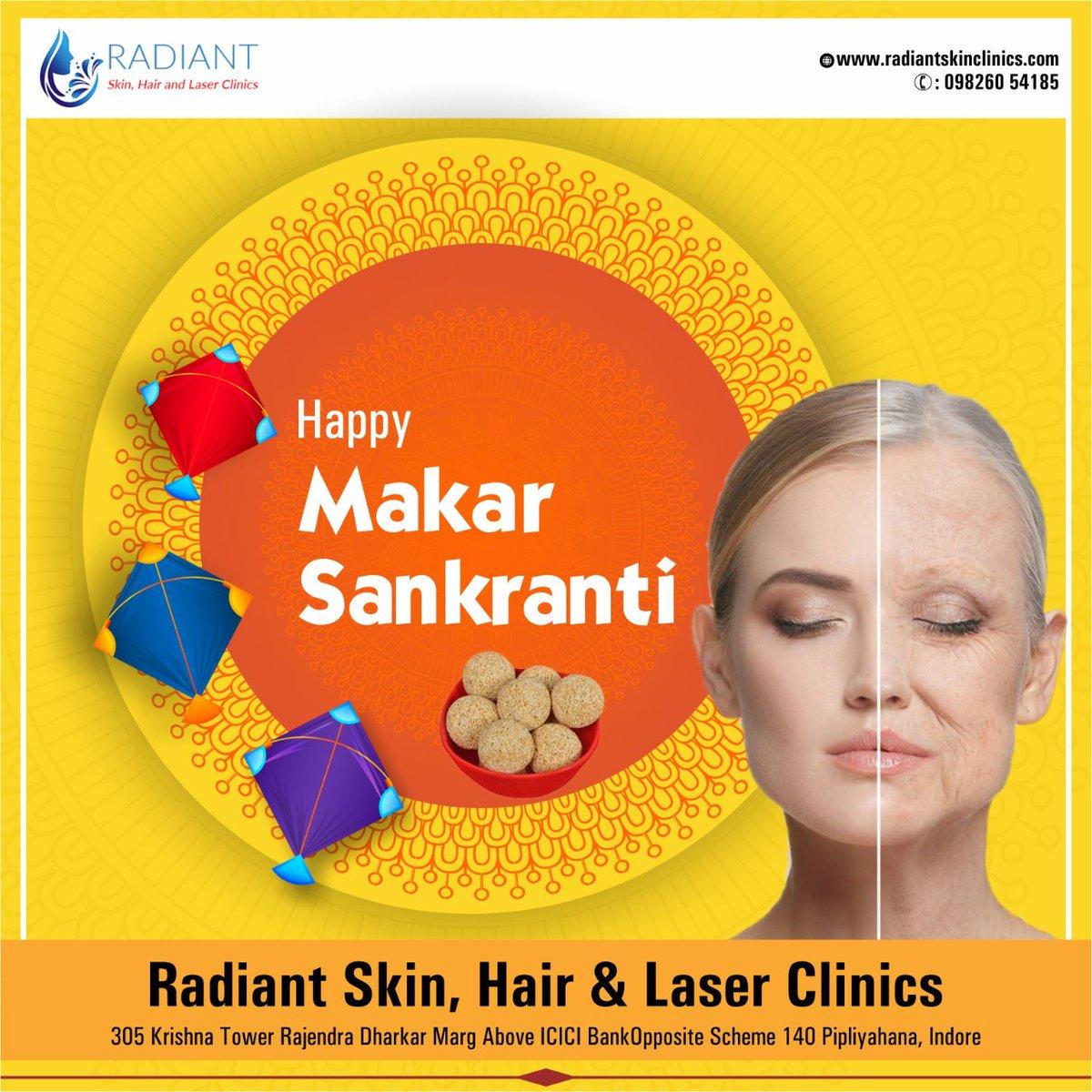Wish you a happy Makar Sankranti  2021 by Dr. Abhishek  Malviya, Dr. Abhishek Malviya is a Dermatologist, Cosmetologist, Laser Surgeon Specialist, and Hair Transplant Surgeon in Pipliyahana, Indore (m.p) Get more info. visit: https://t.co/c3PLUuMl6h #MakarSankranti #Sankranti https://t.co/kse7jEIbwc