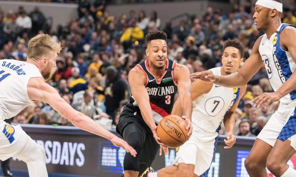 Portland Trail Blazers turn their attention back towards the Eastern Conference clash with the Indiana Pacers. Can the Pacers stifle Damian Lillard & the Trail Blazers the same way they did Steph Curry and the Warriors? Pacers +3.0 vs Trail Blazers -3.0 | https://t.co/xCZQtbEQrq https://t.co/Ksu4cO48le