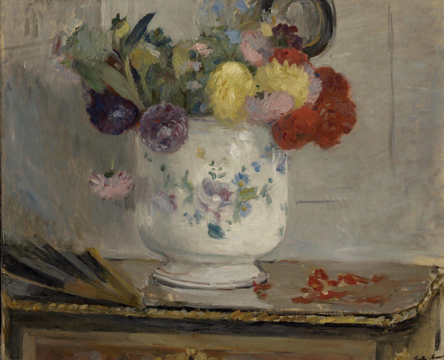 "Clark Art Institute on Twitter: ""Ohhhhh...the simple, wonderful glory of a Berthe  Morisot floral. No better way to celebrate her birthday. @artistmorisot  #bornonthisday #BertheMorisot #impressionistwomen Berthe Morisot, Dahlias,  1876, oil on canvas."