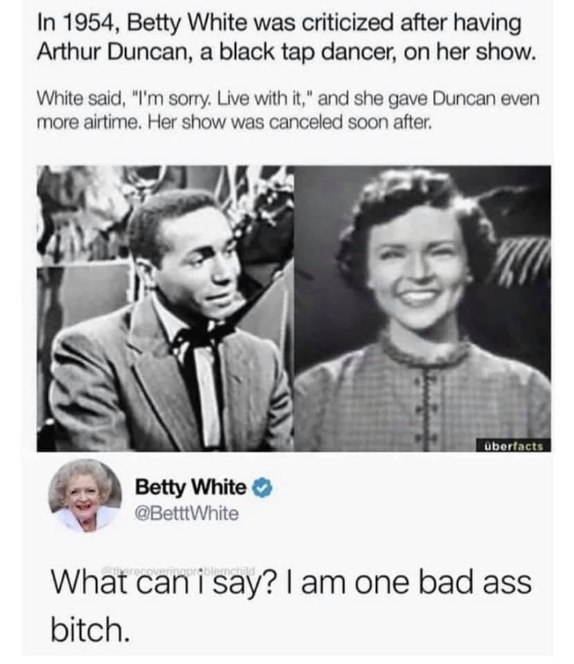 @CBSNews To be fair, if I were a duck I would visit @BettyMWhite everyday, too. ❤️#americanicon #BettyWhite #badass