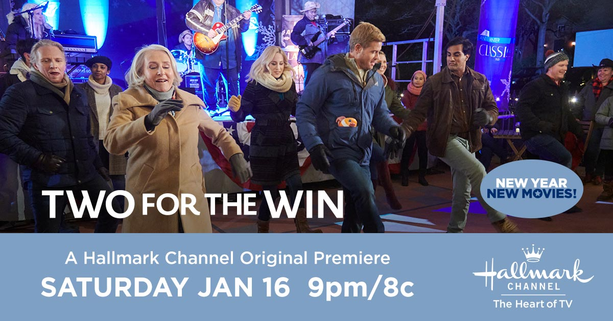 He may be a skiing professional, but Justin @trevdon has a lot to learn when it comes to living in the moment. Watch Kayla #CharlotteSullivan help him let loose in #TwoForTheWin Saturday at 9pm/8c. Part of New Year New Movies!