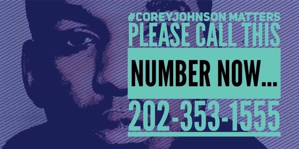 Another flier being shared by anti-death-penalty activists #CoreyJohnson