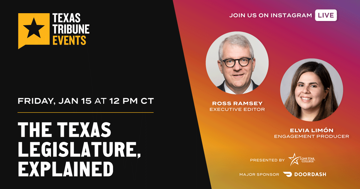 Why should you pay attention to the Texas Legislature now that it's back in session? And which issues are lawmakers likely to tackle first? Join us live on Instagram this Friday for a conversation with @rossramsey and @elvialimon. Follow us here:  #ttevents