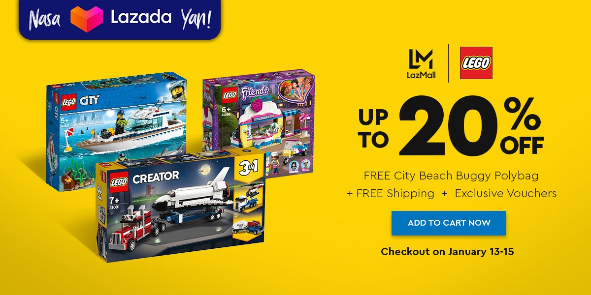 ‼️Lego Up to 20% OFF!‼️ 🛒SHOP NOW!➡  🛒SHOP NOW!➡   🚚Cash on Delivery 🚚Nationwide Delivery  **Price is subject to change without prior notice  #LazadaFinds #LazadaPH #LazadaxLMH  #payday #NasaLazadaYan #LegitSaLazMall #shoponline