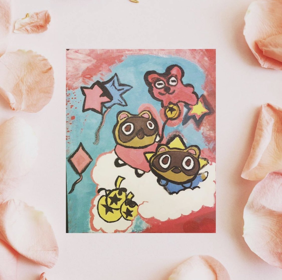 ✨💖✨HAPPY BIRTHDAY TO ME 🥳 🎂 🎉 This is my first twitch painting that I painted live on twitch 🌸🌸I still need to practice but painting is super fun! 🤩 #kawaiiprincess #nooklings #acnhcommunity #acnhdesigns #sanriocore #nintendoswitchlite #thursdaymood #acrylicpainting 💖🌸