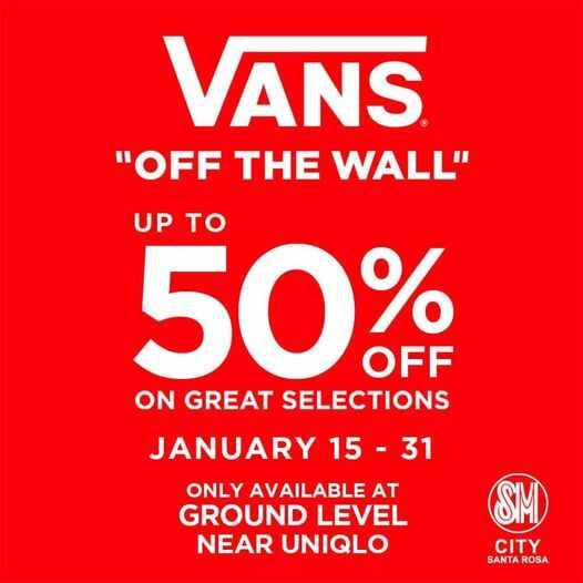 VANS OFF THE WALL - UP TO 50 % OFF - January 15-31 - SM CITY STA. ROSA For more info 👉  #welovesale #onedaysale #yeyonsale #NasaLazadaYan!