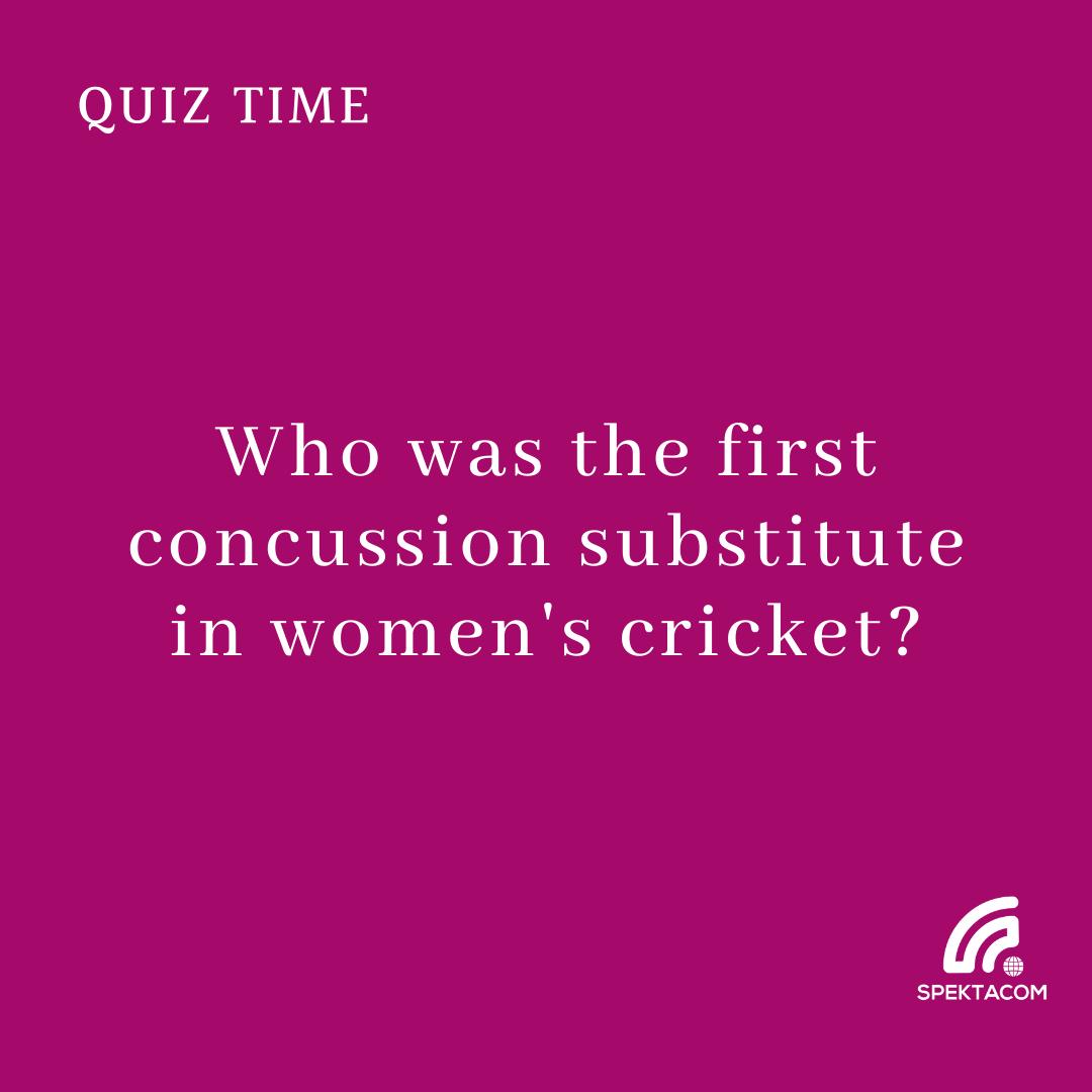 #Cricket #Spektalk #Quiz 48 #FridayFun #womenscricket
