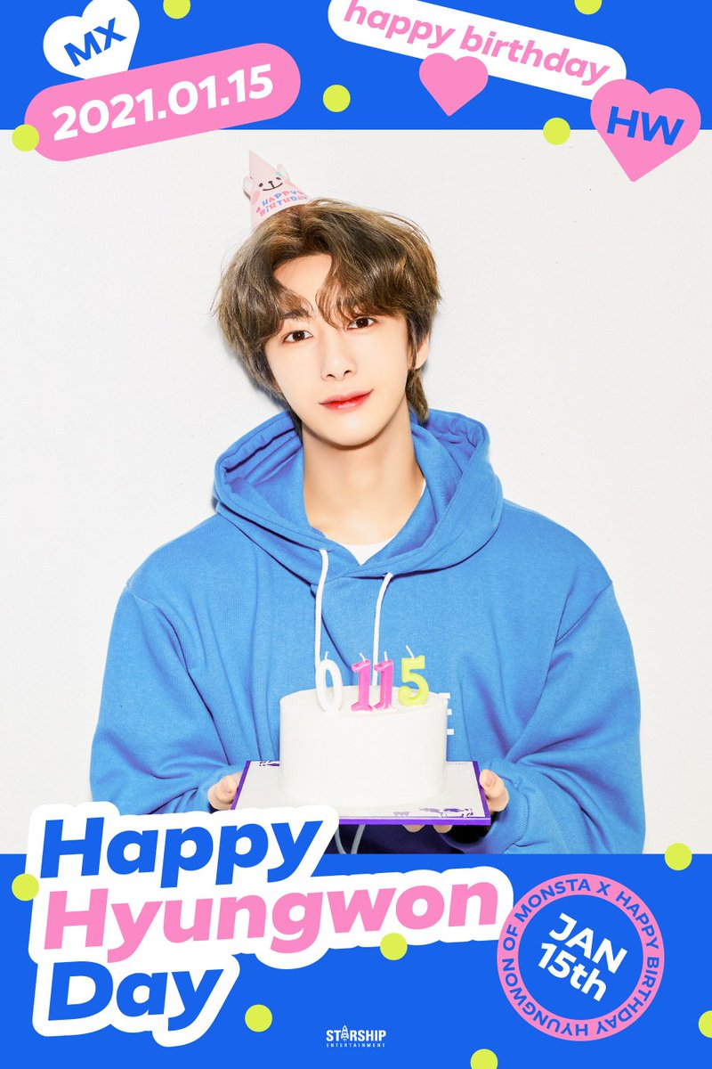 Happy birthday Hyungwon 🎂🎂🎉🎉☺️☺️wish you have a great day and great health for the rest of your life ❤️❤️ @OfficialMonstaX #HAPPY_HYUNGWON_DAY #HBDtoHYUNGWON