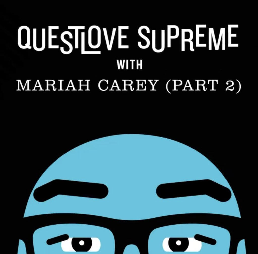 YAS!! I've been dying to hear @MariahCarey discus CHICK-her GENIUS alt concept album with an actual musical authority, scholar @questlove (fellow genius) #QUESTLOVESupreme (I'm a🐥 🐑)