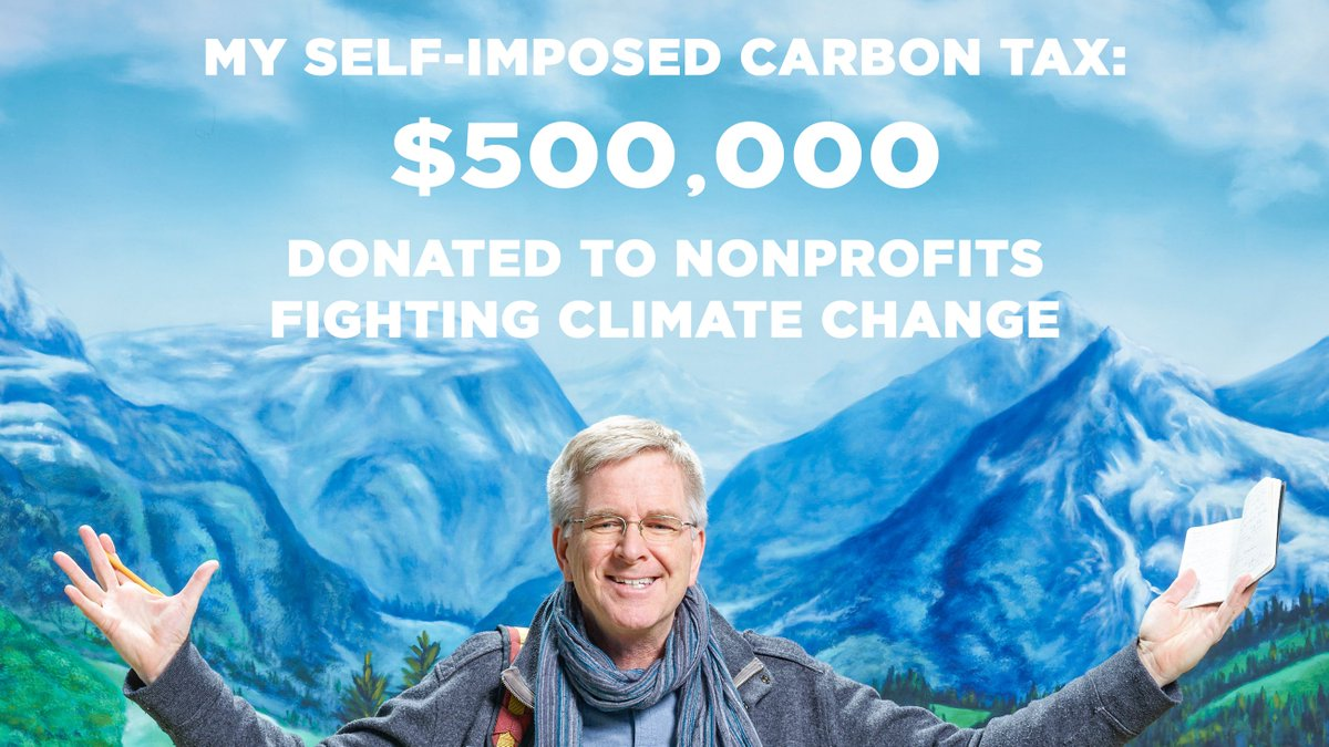 I just put ten checks totaling $500,000 in the mail — as a self-imposed carbon tax.   Find out more here: .