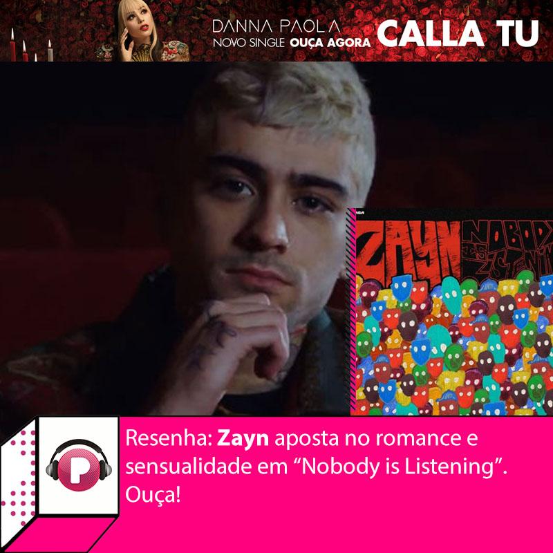 """2021 trouxe um Zayn ainda mais profundo e romântico, pelo menos é o que mostra """"Nobody is Listening"""".  O terceiro álbum de estúdio do cantor mistura romance, desabafos e muita sensualidade ao longo de 11 faixas um tanto quanto envolventes! Vem ouvir:"""