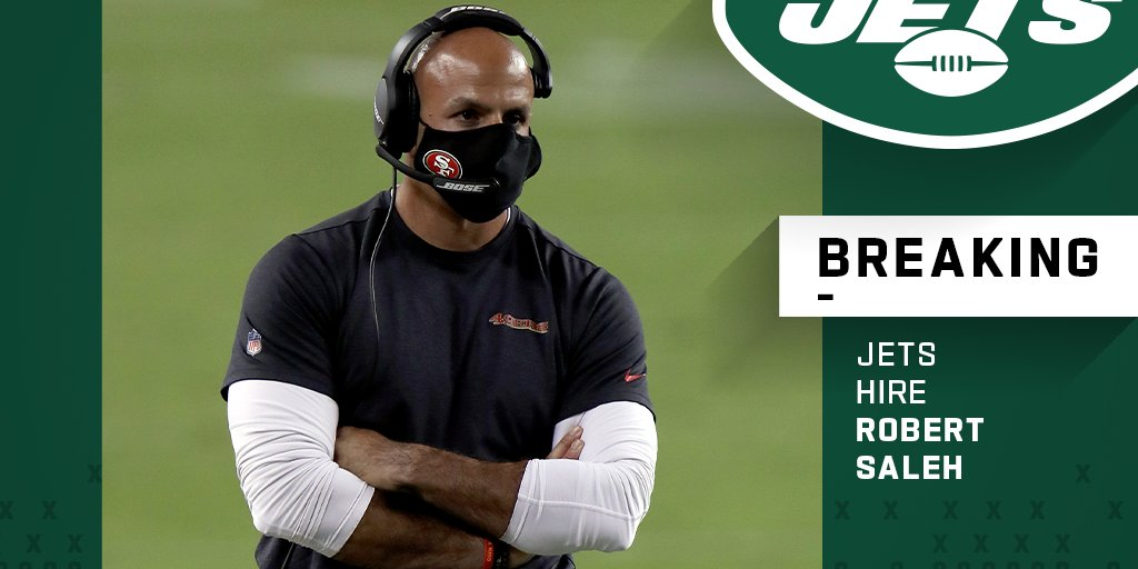 Jets hire Robert Saleh as new head coach.