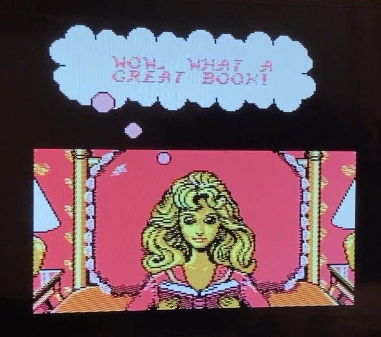 Tried playing this Barbie NES game and like I guess she's in a dream & inanimate objects have come to life and they are ATTACKING you but you don't have weapons and you cant run but you have a magical charm bracelet ??   Anyway I died and gave up after level 2