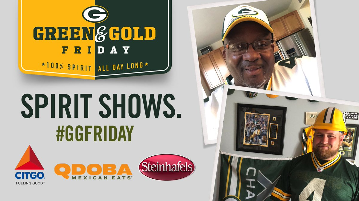 It's Green & Gold Friday! 💚💛  Wear your #Packers colors & be rewarded:   #GGFriday | #GoPackGo