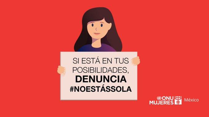Encuentra aquí algunas opciones que tienes para pedir ayuda en caso de violencia.  #NoEstásSola