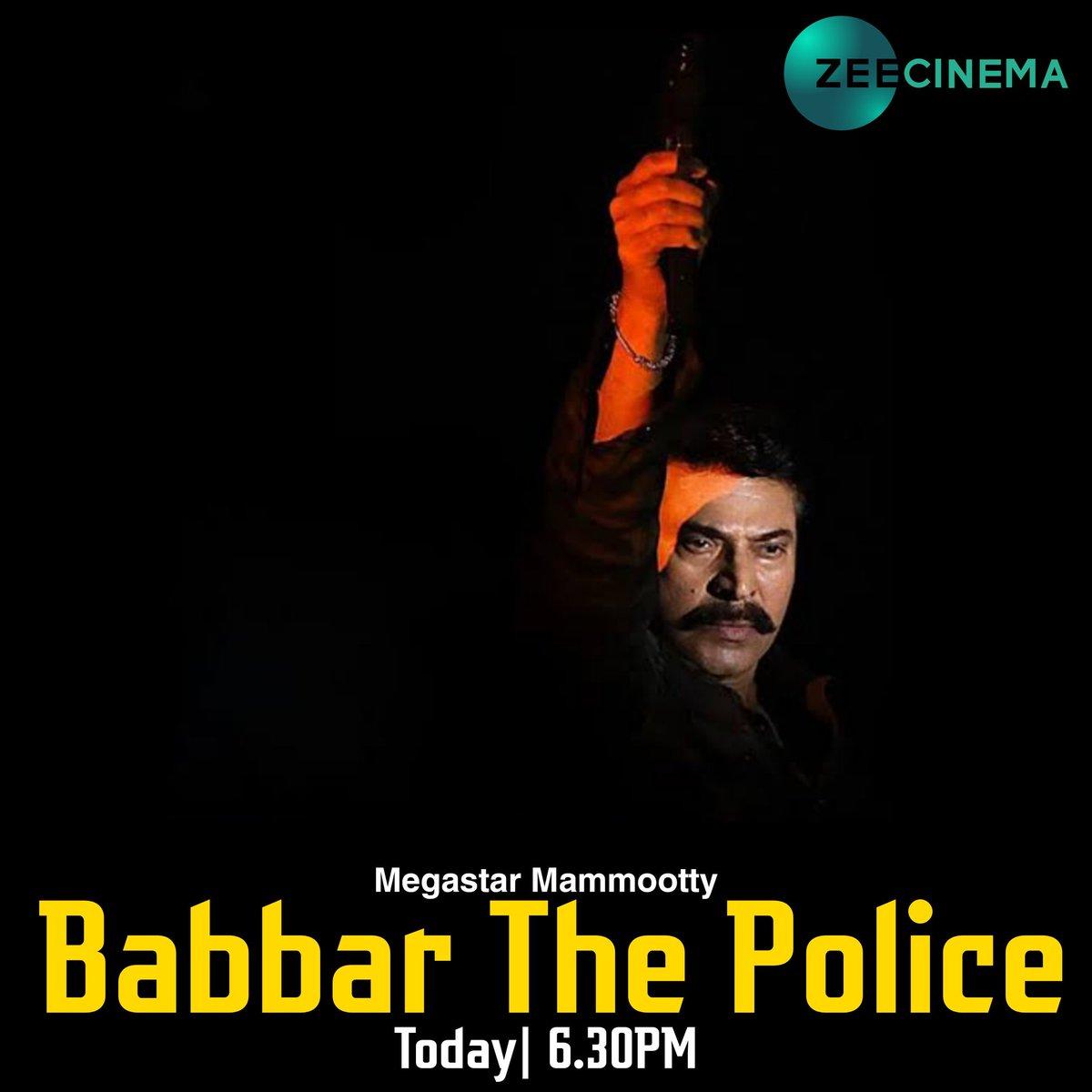 World Television Premiere  #BabbarThePolice ( Abrahaminte Santhathikal ) on #ZeeCinema Today at 6.30pm...  Megastar #Mammootty  #Mammukka  #AnsonPaul #Kaniha @mammukka  #OneTheMovie #ThePriest #BabbarThePoliceOnZeeCinema #ThePriestTeaser