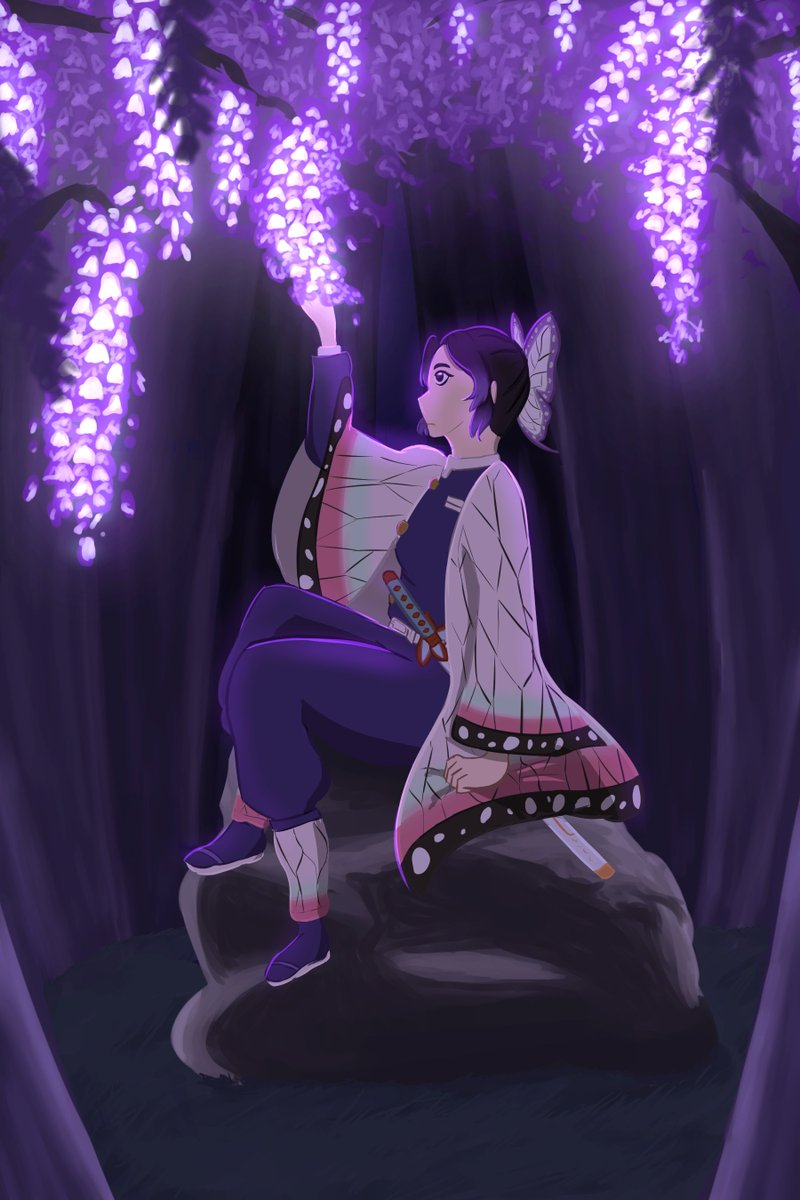 no thoughts, head empty, just Shinobu and wisteria #kny #kimetsunoyaiba