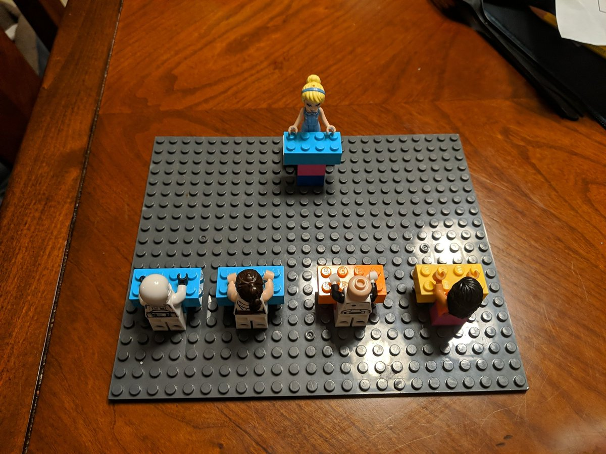 My kids made a Lego #TheWeakestLink.  I like that they chose Cinderella for @janemarielynch