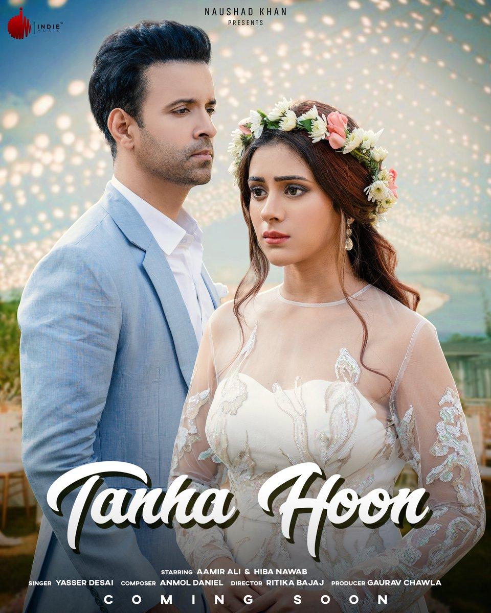 Indie Music Label presents Yasser Desai's latest music track #TanhaHoon featuring Aamir Ali & Hiba Nawab ❣️🎶  #NaushadKhan #IndieMusicLabel #IndieMusicOriginals #AamirAli #HibaNawab #ComingSoon  @naushadkhanepos @ali_aamir @nawab_hiba @yasserdesai