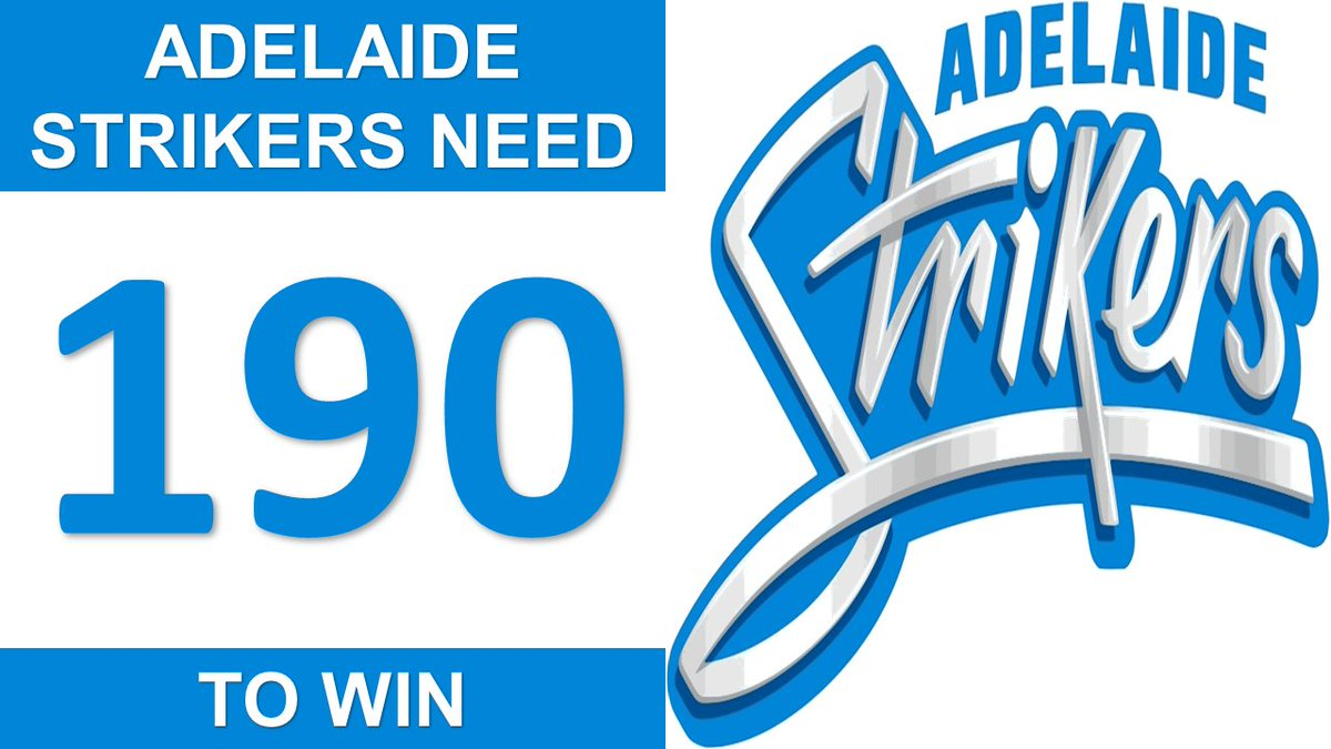 BIG BASH LEAGUE Melbourne Stars vs Adelaide Strikers  ADELAIDE STRIKERS NEED 180 TO WIN (Adelaide Strikers will also need to score at least 58 runs, in the first half of their Innings, in order to claim the Bash Boost bonus point.) https://t.co/GCTH3qvbo3