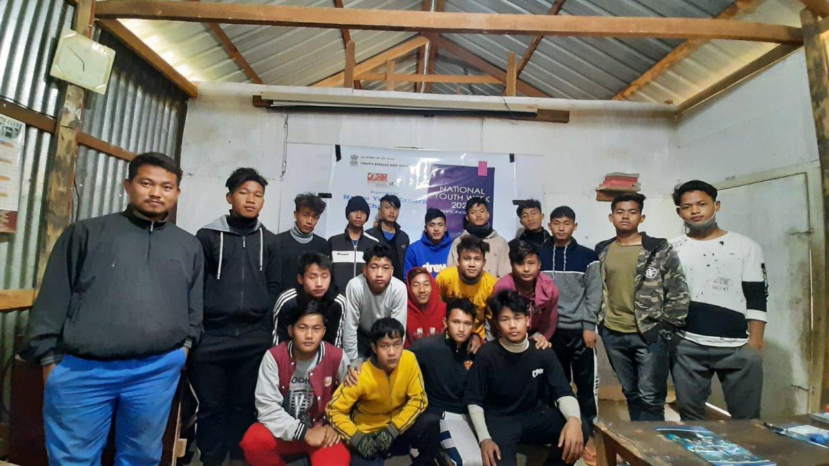 Participation Day under #NationalYouthWeek 2021 celebration by youth club members under the leadership of National Youth Volunteer #ThangkhanpaoHaokip of NYK Chandel  #YOUTHDAY2021  #SwamiVivekanandaJayanti  #YuvaShakti  #NYKSINDIA  #KirenRijiju  #yasministry