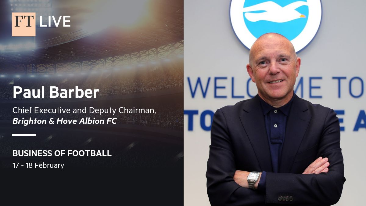 🗣 Paul Barber will be speaking at Business of Football Summit on 17th & 18th February.   #️⃣ #ftfootball  Details on how to register are below. 👇    #BHAFC 🔵⚪️